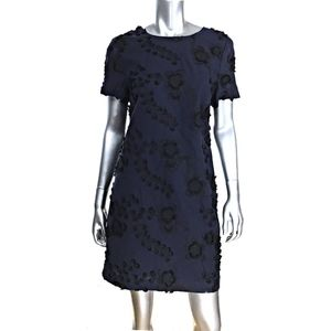Banana Republic Floral Embroidered Blue Dress 10